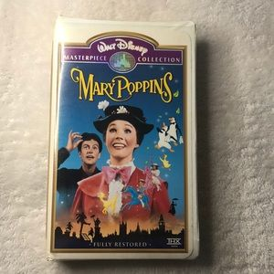 Disney masterpiece collection Mary Poppins VHS